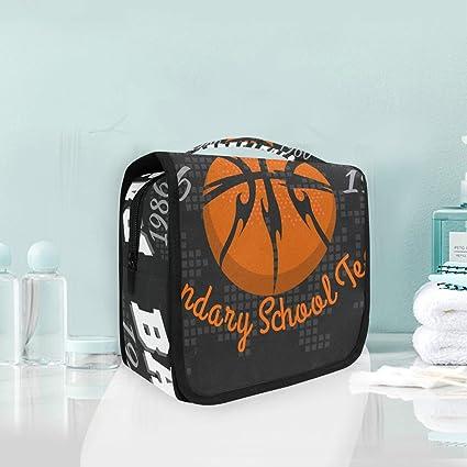FAJRO - Neceser de viaje versátil con emblema de baloncesto, ideal ...