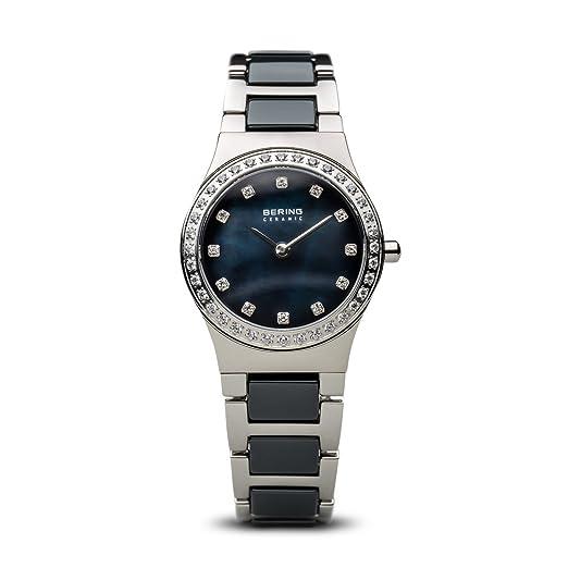 BERING Reloj Analógico para Mujer de Cuarzo con Correa en Acero Inoxidable 32426-707: Amazon.es: Relojes