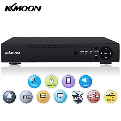 Video Recorder,KKmoon 4CH Channel 1080N/720P AHD DVR NVR HDMI P2P Cloud  Network Onvif Digital Video Recorder Motion Detection CCTV Security Camera