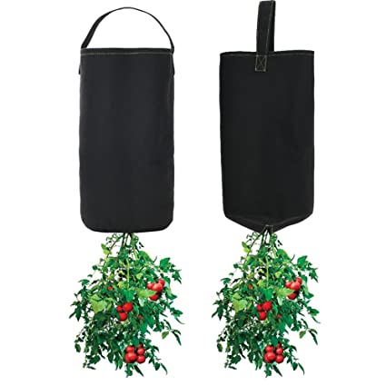 Upside Down Tomato Planter Plant Bags Aeration Fabric Pots Thickened Nonwoven 2 Packs