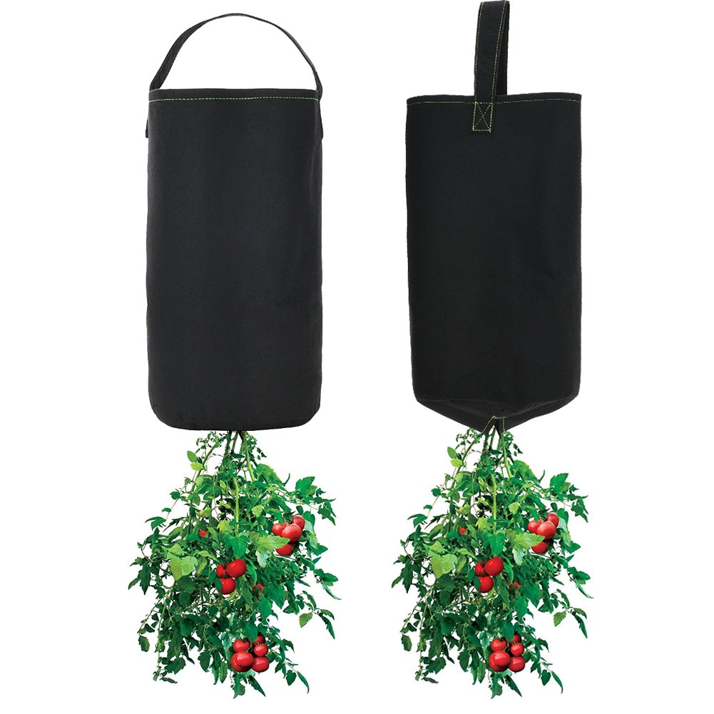 Upside Down Tomato Planter, Plant Bags, Aeration Fabric Pots Thickened Nonwoven 2 Packs by YAMMASTORE