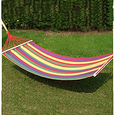 200*80cm Canvas Single Hammock Tourism Camping Leisure Fabric