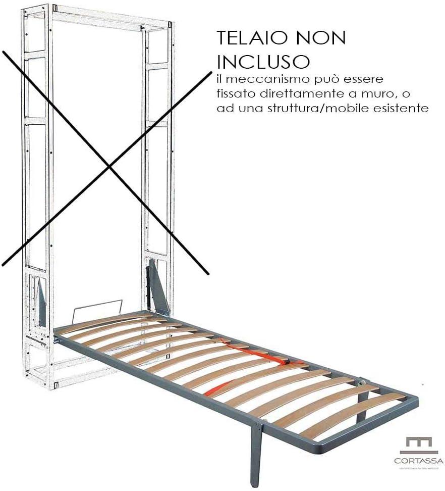 CORTASSA Cama abatible para ahorrar espacio, de pared, tipo «Maly», 120 x 190 cm