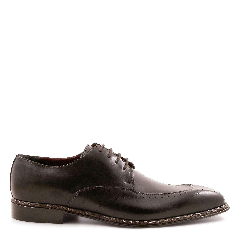 91c07cac46 LEONARDO scarpe Stringate Uomo Uomo Uomo 28162TAMPNERO Pelle Nero ...