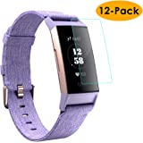 KIMILAR Compatibile Fitbit Charge 3 Pellicola Protettiva [12 Pack], Flessibile Copertura Completa Protezione Schermo per Fitbit Charge 3 & Special Edition - Anti-Graffi, Cristallo Chiaro, Anti-Bolla