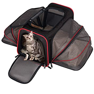 dd7a34b7537c DZMWEK Expandable Pet Carrier Airline Approved