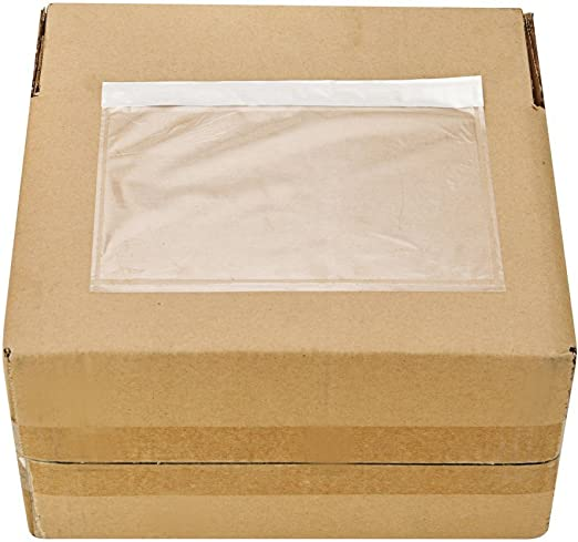200 Pack 9527 Product EP7.5x5.5 7.5 x 5.5 Clear Adhesive Top Loading Packing List//Shipping Label Envelopes