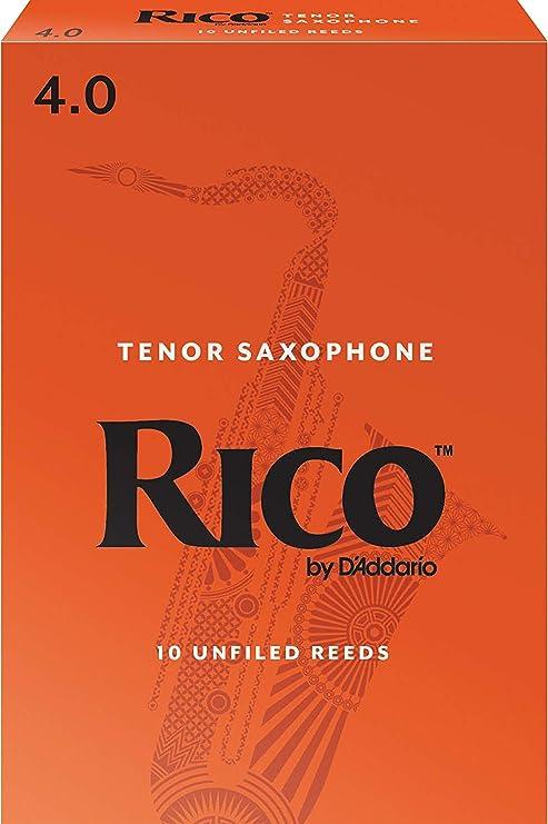 Rico by DAddario. Cañas para saxofón tenor, fuerza 4, pack de 10: Amazon.es: Instrumentos musicales