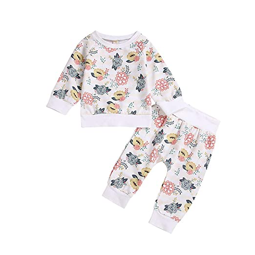 20fb2d85b Amazon.com  BSGSH Baby Girl Clothes Infant Outfits Set 2 Pieces ...