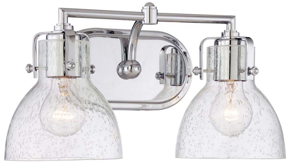 Minka Lavery 5722-77 2-Light Transitional Bath Lighting, Chrome Finish