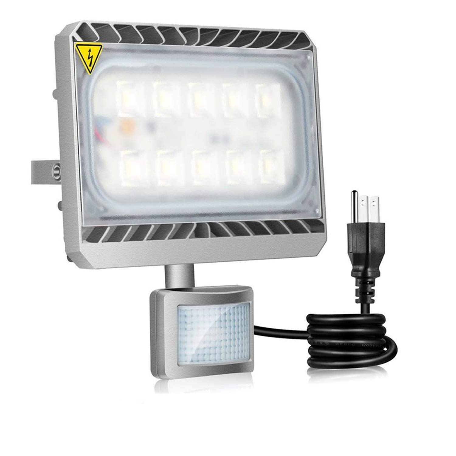 Motion Sensor Security Light, STASUN 50W 4500lm LED Flood Light Outdoor, 6000K Daylight, Built with Cree LED Chips, Waterproof, Great for Entryways, Yard and Garage