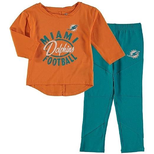 f02c2561 Amazon.com: Miami Dolphins Girls Preschool Fan Gear Football Long ...