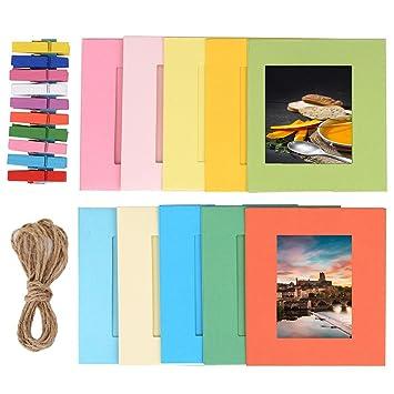 Bilderrahmen selber machen aus papier  TaiYaun Papierrahmen Papier Fotorahmen Bilderrahmen mit 10 Stück ...