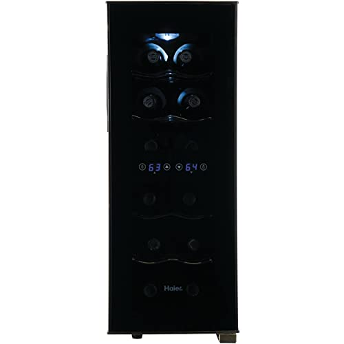 Haier-12-Bottle-Dual-Zone-Curved-Door-with-Smoked-Glass-Wine-Cellar