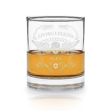 Geschenkidee.de Whisky-Glas Totenkopf mit Gravur/Name Nach Wunsch ...