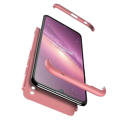 JMGoodstore Funda Compatible Huawei Honor 10 Lite,Carcasa Huawei Honor 10 Lite,360 Grados Integral Ambas Caras+Cristal Templado,3 in 1 Slim Dactilares ...