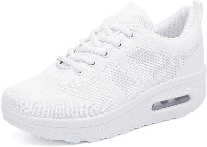 Zapatillas Deportivas Mujer Zapatos Deporte Gimnasio Cuña ...