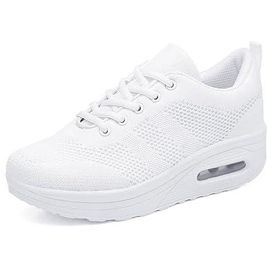 la mejor calidad para Códigos promocionales precio bajo Zapatilla de Deporte Mujer Zapatos para Mujer Cuña Cómodos Mocasines  Plataforma Zapatillas Sneaker Calzado Deportivo de Exterio