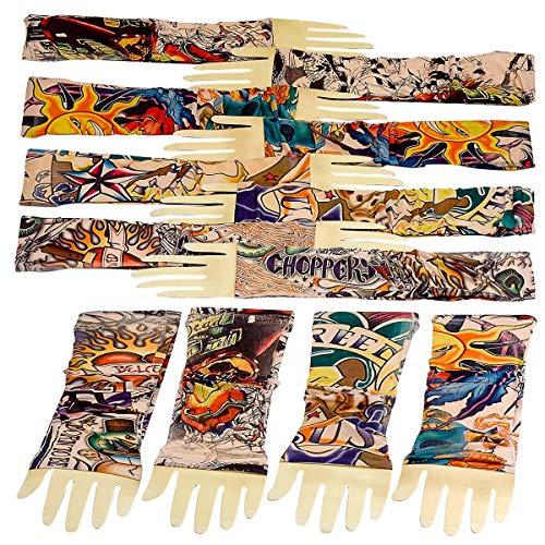 Kicko Tattoo Sleeve 12 Pack - 16 Inch Ink Sleeve - Sleek Fake Arm Tattoo - Sunscreen Sleeve - Stretchable Tattoo - Unisex Stocking UV Protector