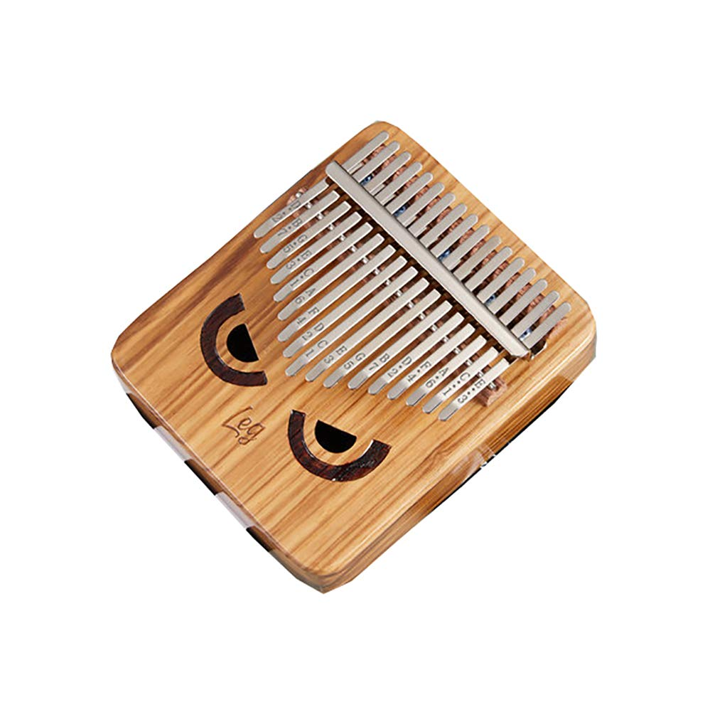 Yajun Kalimba 17 Keys Thumb Pianos Portable Marimbas Owl Pattern Humanized Design Music Instrument for Child Beginner by Yajun