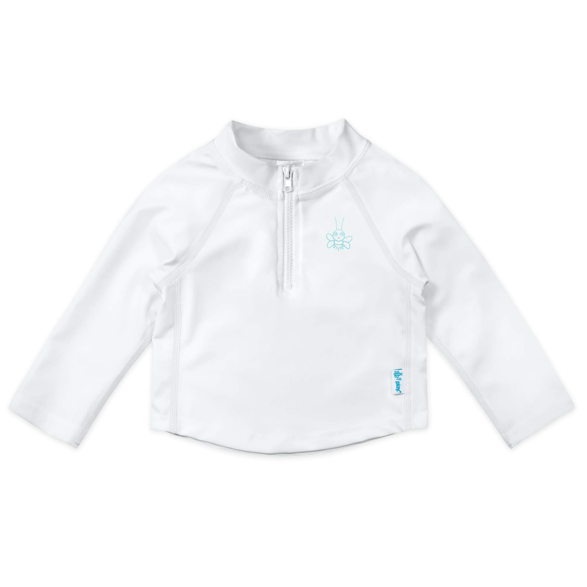 i play. Long Sleeve Rashguard Shirt | All-day UPF 50+ sun protection—wet or dry,White Zip,12 months