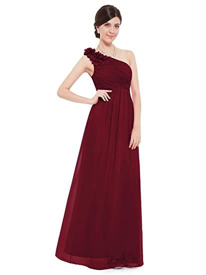 c9cebc520e8 Ever Pretty Womens One Shoulder Ruched Padded Long Evening Dress 08237   Amazon.co.uk  Clothing