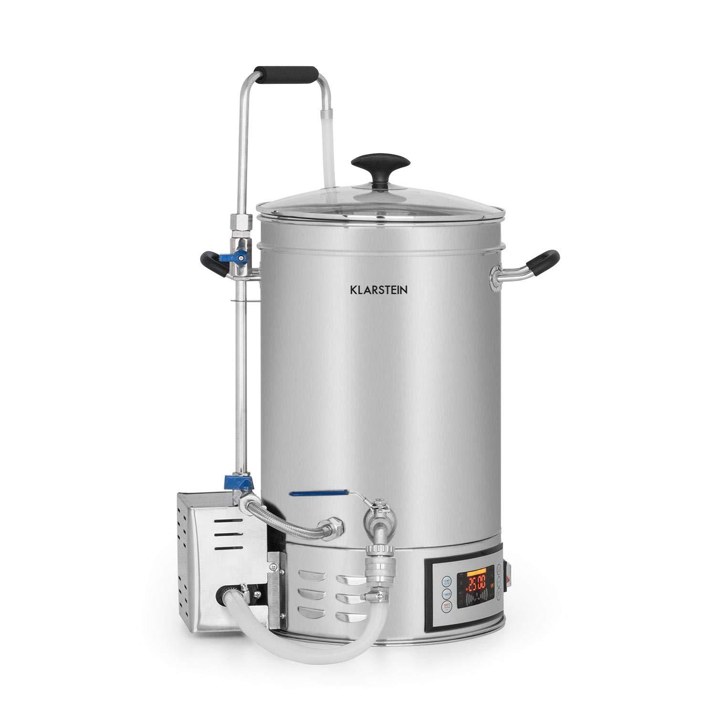 Klarstein Brauheld 30 Caldera de maceración • Juego de fermentación • Cerveza casera • 30 L • 30-140 °C • 500-2500 W • Bomba de circulación • 4 pasos ...