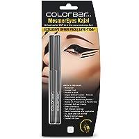 Colorbar Cosmetics MesmerEyes Kajal Duo, Black, 100 g (Pack of 2)