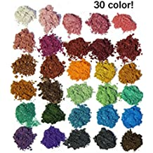 30 Color Pigments Shimmer Mica Powder - DIY Soap Making, Cosmetic, Candle Making, Eye shadow, Craft Projects(5 grams Each, 150 Grams Total)