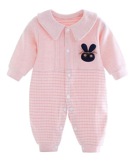 9607df7deb24 Happy Cherry Unisex Baby Soft Cotton Romper Suit Kids Autumn Winter Coat Zipper  Long Sleeve Lovely