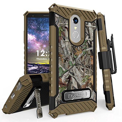 "for 6.2"" LG Stylo 4 Case, LG Q Stylus Case Holster Phone Case 12ft Military Grade Drop Tested Belt Clip Kick stand Hybrid Armor Cover (Camo)"