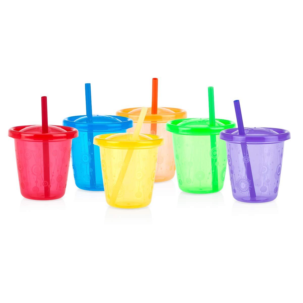 Amazon.com: Nuby - Juego de 6 tazas para niños con tapas y ...