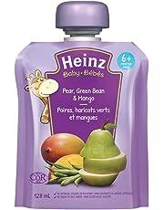 Heinz Baby Pear, Green Bean & Mango Pouch 128ML, 128mL (Pack of 6)