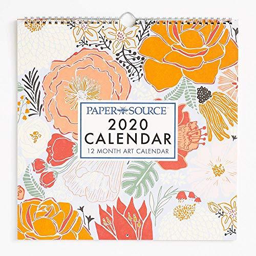2020 Art Grid Calendar (Paper Source Wall Calendar)