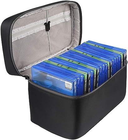 Registro de almacenamiento estuche de transporte Grabación de CD / DVD de almacenamiento de vinilo LP del álbum de almacenamiento portátil caja de CD Muebles de almacenamiento para los álbumes: Amazon.es: Hogar