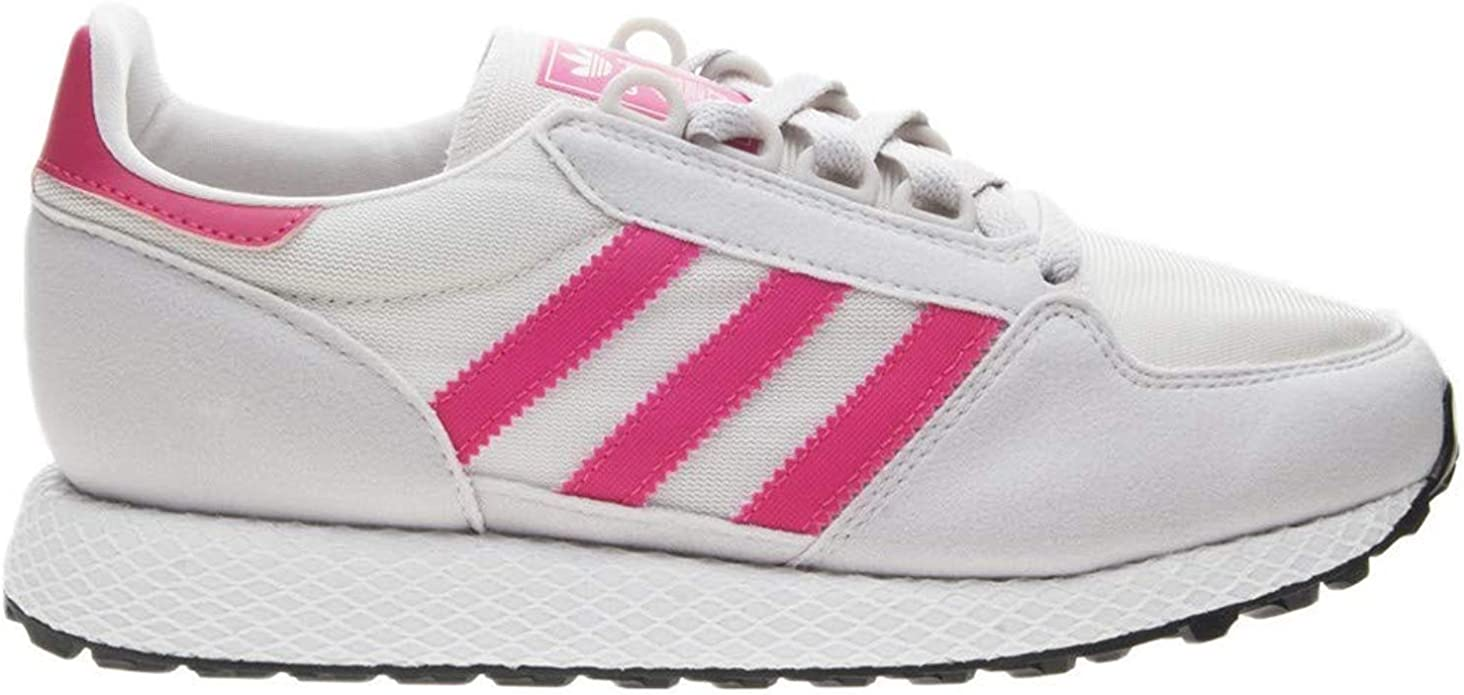 imán anunciar efectivo  adidas Originals Unisex Forest Grove J Running Shoe, Chalk White/Real Pink/Grey  one, 4.5 M US Big Kid: Amazon.co.uk: Shoes & Bags