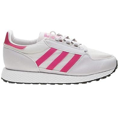 free shipping 038d7 0497e adidas Originals Unisex Forest Grove J Running Shoe, Chalk WhiteReal  PinkGrey