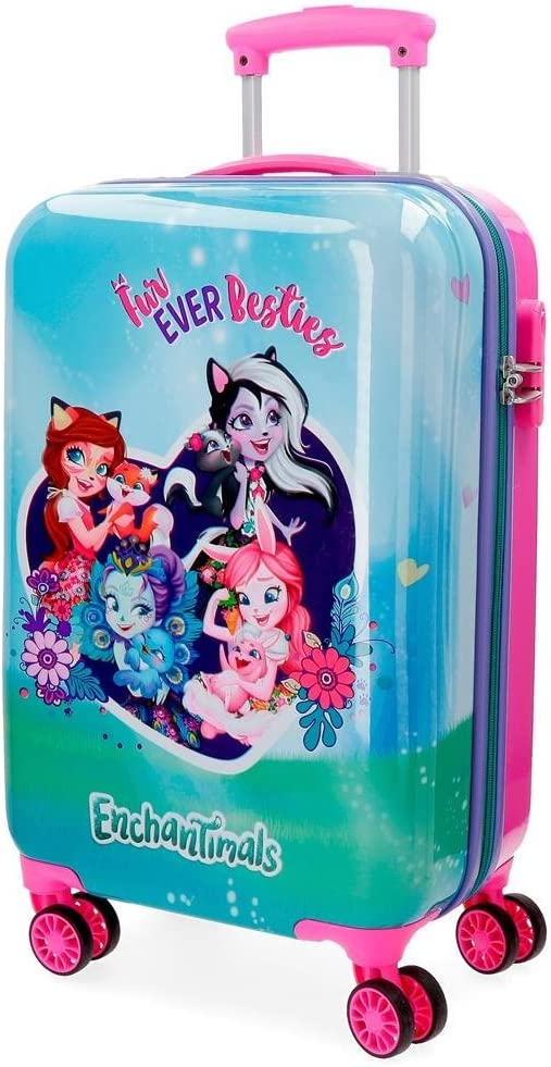Maleta de cabina Enchantimals Fur Ever Besties rígida 55cm