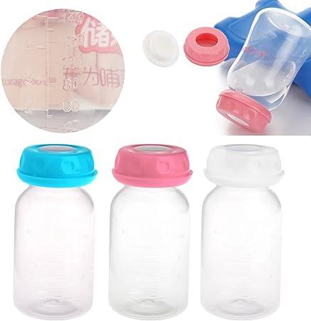 Recipientes de leche materna para un almacenamiento fácil en el congelador o el frigorífico.,Tapa de