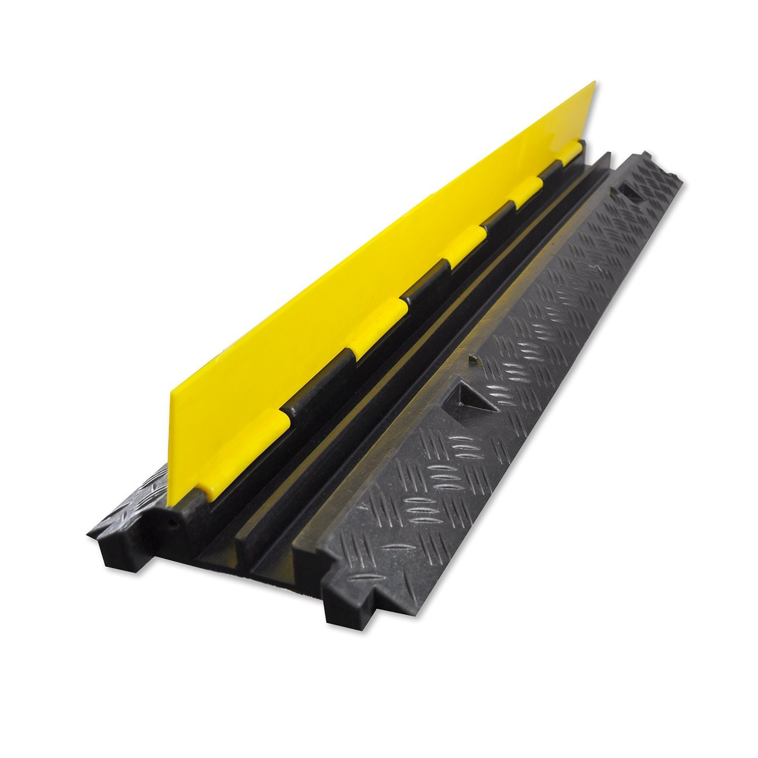 EZ Runner 2 Channel Cable Protector - Length: 39'' - Black Base/Yellow Lid *3 Pack* by EZ Hidewire