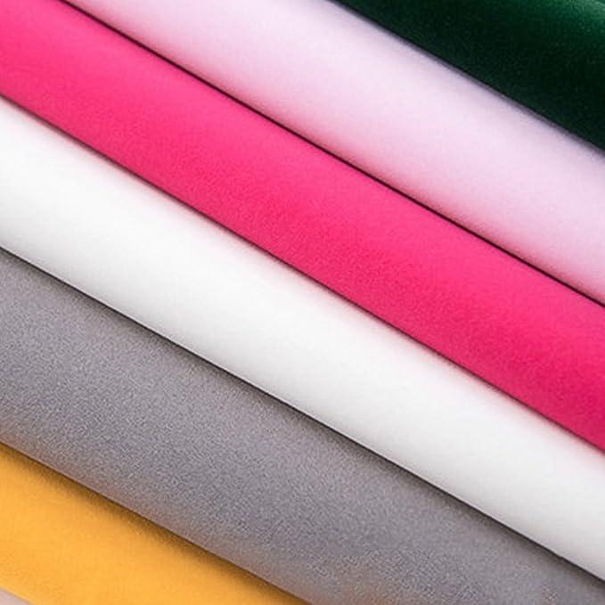 Ocamo 45 x 200cm Liner Self-Adhesive Velvet Flock Jewelry Contact Paper Craft Fabric Peel Stick Beige
