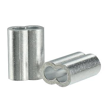 sourcingmap 10 Stück 10mm 3/8-Zoll Kabel Drahtseil Aluminium Ärmel ...