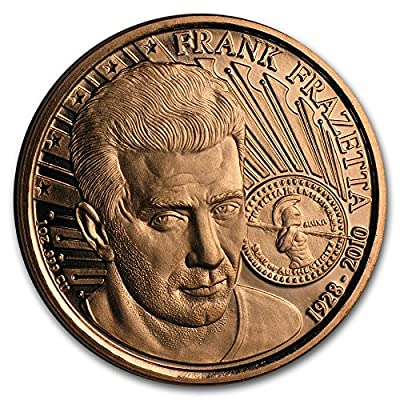 1 oz Copper Round Barbarian, Frank Frazetta: Industrial & Scientific