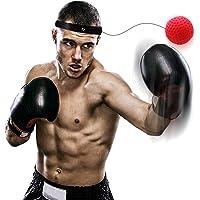 RabbitStorm Punching Ball Boxeo Fight Ball Reflex para Mejorar las Reacciones de Velocidad y la Coordinación de la Mano con los Ojos, Gorros Ajustables, Boxing Punch Equipo para el Entrenamiento de Boxeo
