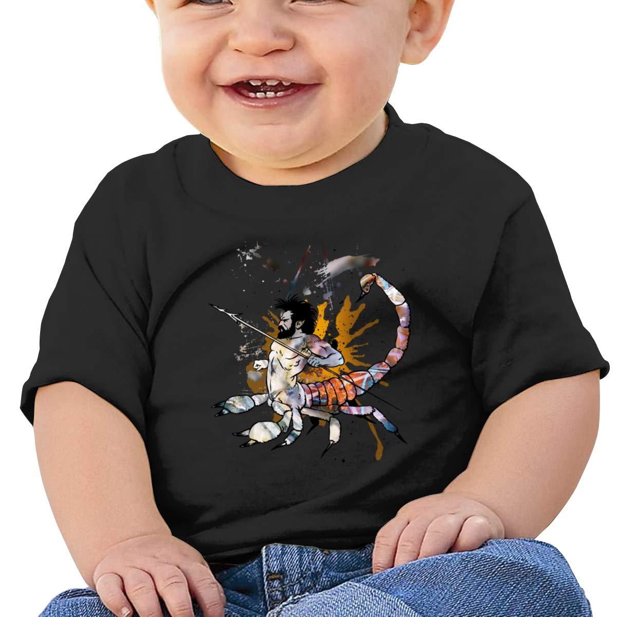 Qiop Nee Scorpio Man Doodle Short Sleeve T-Shirts Baby Girl