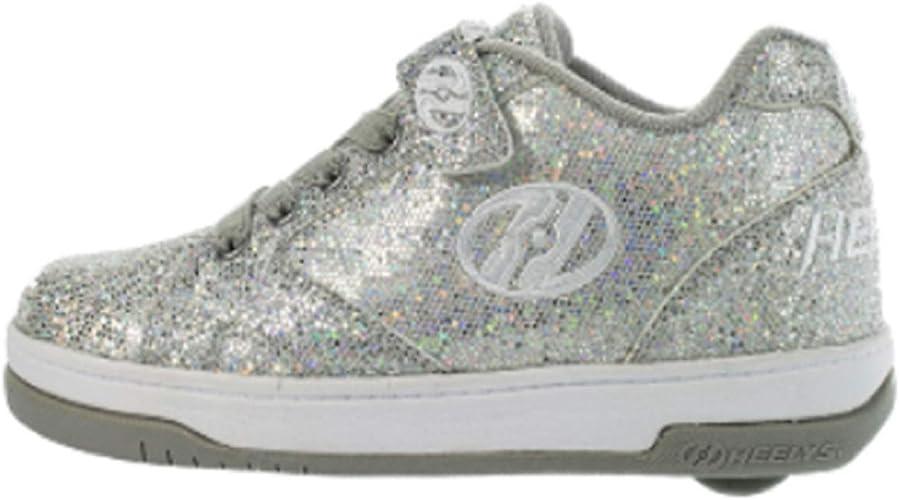 Heelys Split shoes Girls heelys hologram heelys shoes Silver heelys uk size