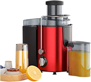 """Juicer Machines,Juice and Vegetable Extractor,Wide 2.55""""Feed Chute, Easy Clean Juicer,3-Speed, Stainless Steel,400W, BPA-Free"""