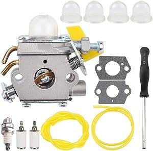 Mannial C1U-H60 308054013 308054003 Carburetor fit Ryobi Homelite RY28100 RY28120 RY28121 RY28140 RY28141 25cc 26cc 30cc String Trimmer Brushcutter Rep # 308054012 3074504 985308001 308054004