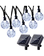 2 Pack Globe Solar String Lights 20ft 30 LED Solar Globe LightsWaterproof 8 Modes Crystal Ball Lighting for Patio Lawn Garden Wedding Party Christmas Decorations