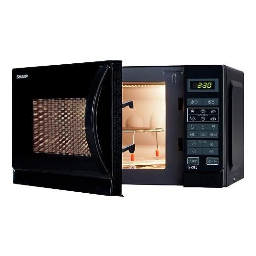 Sharp r-642bkw Horno a microondas con grill Capacidad 20 ...